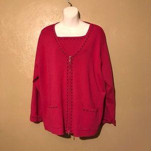 Grace Elements 2-pc sweater set size 3X w/zipper